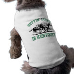 Gettin' Lucky in Kentucky Dog T-shirt