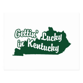 Gettin' Lucky in Kentucky Postcard