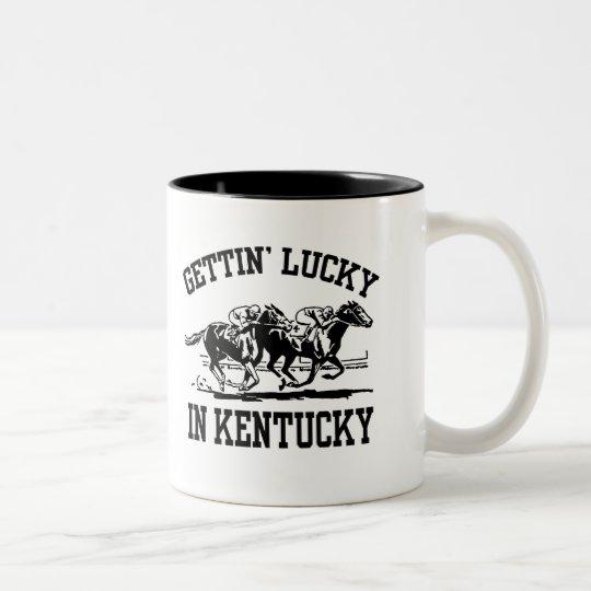 Gettin' Lucky in Kentucky Two-Tone Coffee Mug