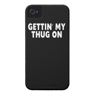 Gettin My Thug On, Funny Case-Mate iPhone 4 Case