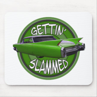 gettin slammed1960 Cadillac key lime Mousepads