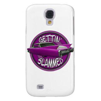 gettin slammed 1960 Cadillac pink Samsung Galaxy S4 Case