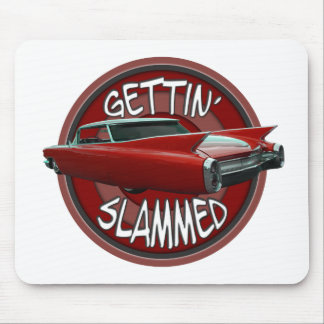 gettin slammed 1960 Cadillac Rollin red lowrider Mouse Pad