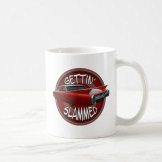 gettin slammed 1960 Cadillac Rollin red lowrider Coffee Mug