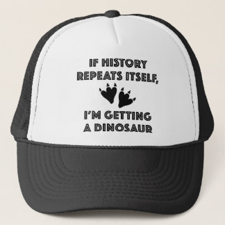 Getting A Dinosaur Trucker Hat
