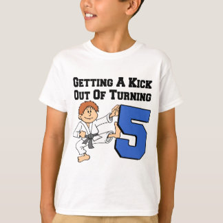 Getting A Kick Out Of 5 Karate Theme T-Shirt