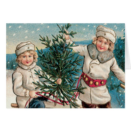 Getting a Tree Greeting Card