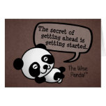 Getting ahead requires getting started greeting card