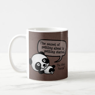 Getting ahead requires getting started coffee mug