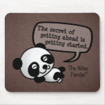 Getting ahead requires getting started mouse pad