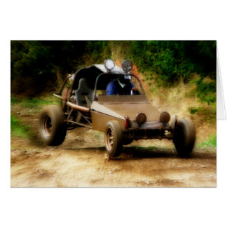 Getting Air in a Dune Buggy Card