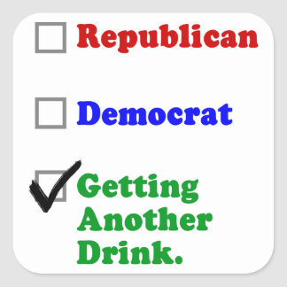 Getting Another Drink Party Square Sticker