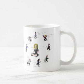 Getting anywhere running around? coffee mug