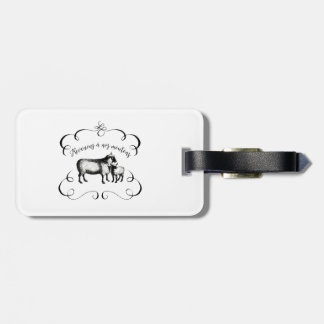 Getting Back to Our Sheep - Funny French Farm Bag Tag