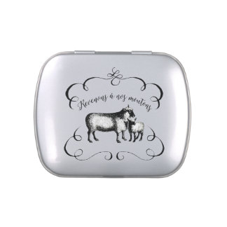 Getting Back to Our Sheep - Funny French Farm Jelly Belly Tin