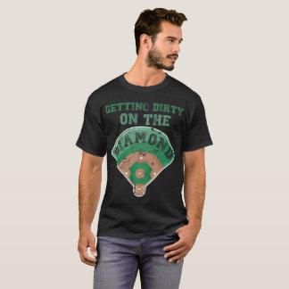 Getting Dirty on the Diamond Baseball Joke T-Shirt