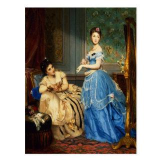 Getting Dressed, 1869 Postcard