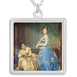 Getting Dressed, 1869 Silver Plated Necklace