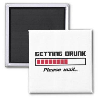 Getting Drunk Please Wait Loading Bar Refrigerator Magnets