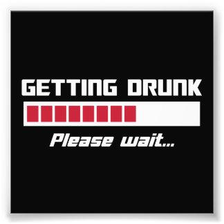 Getting Drunk Please Wait Loading Bar Photo Print