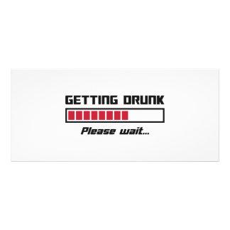 Getting Drunk Please Wait Loading Bar Rack Card