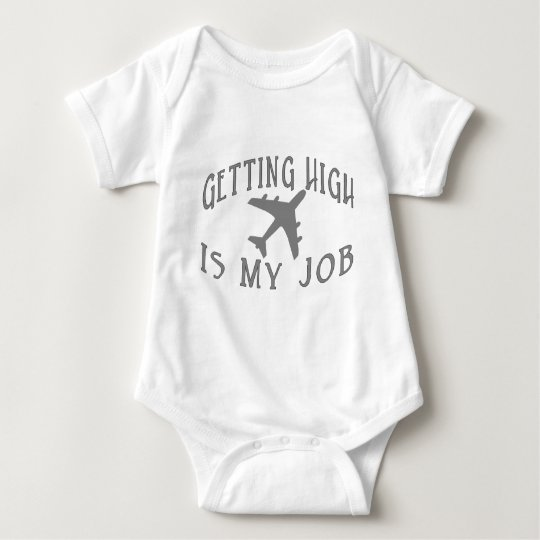 Getting High Airline Pilot Baby Bodysuit