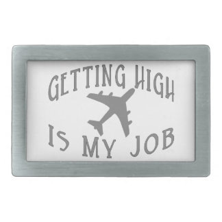 Getting High Airline Pilot Belt Buckle