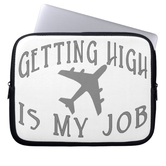 Getting High Airline Pilot Computer Sleeve
