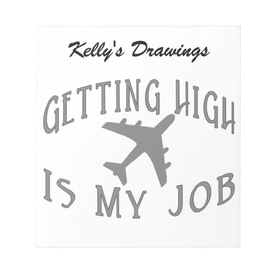 Getting High Airline Pilot Notepad