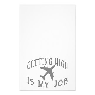 Getting High Airline Pilot Stationery