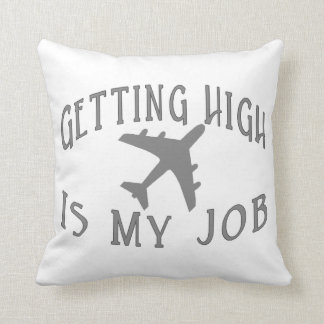 Getting High Airline Pilot Throw Pillow