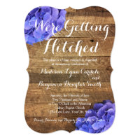 Getting Hitched Barn Wood Hydragea Wedding Invites