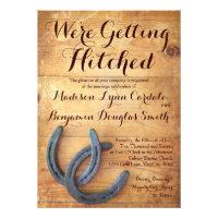 Getting Hitched Double Horseshoe Wedding Invites Custom Invitation (<em>$2.25</em>)