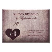 Getting Hitched Heart Rustic Wedding RSVP Cards Custom Invite (<em>$2.05</em>)
