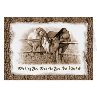 Getting HItched: Horses: Wedding Congratulations Card