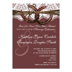 Getting Hitched Horseshoe Wedding Invitations