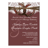Getting Hitched Horseshoe Wedding Invitations