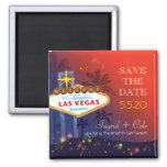 Getting Hitched in Las Vegas Fun Save the Date Fridge Magnets