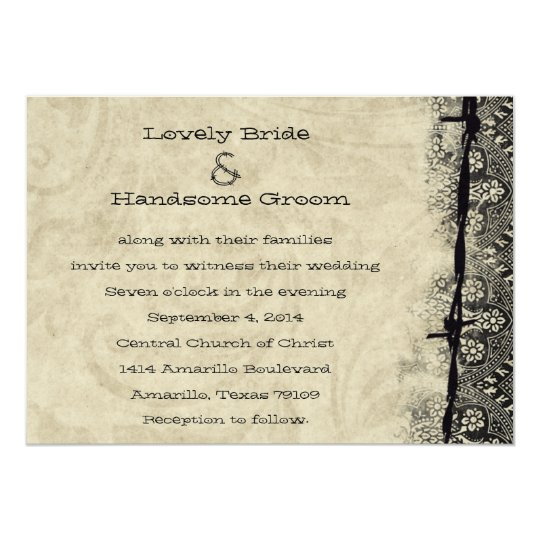 Hitched Wedding Invitations: Getting Hitched Old Country Wedding Invitation