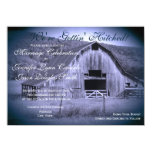 Getting Hitched Rustic Barn Wedding Invites Blue Custom Invitations