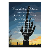 Getting Hitched Southwestern Wedding Invitations