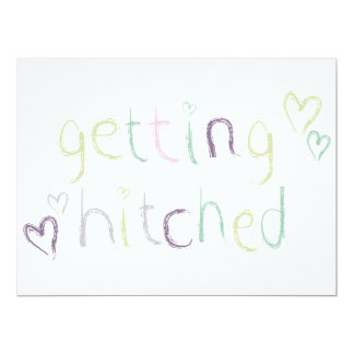 Getting Hitched Wedding Day Card