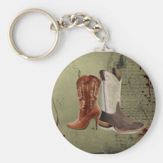 getting hitched western cowboy boots wedding keychain