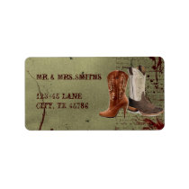 getting hitched western cowboy boots wedding label