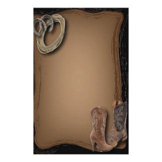 getting hitched western cowboy boots wedding stationery
