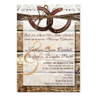 Getting Hitched Wood Horseshoes Wedding Invites (<em>$2.38</em>)