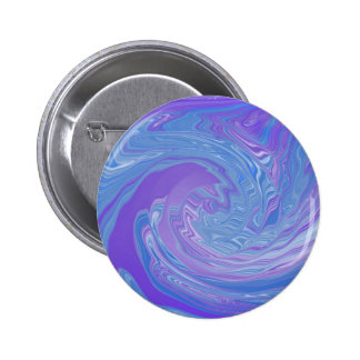 Getting It Together Purple and Blue Abstract Art 2 Inch Round Button