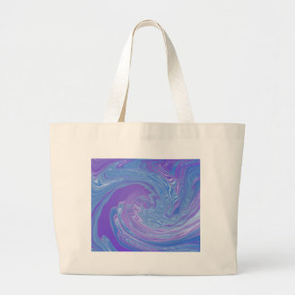 Getting It Together Purple and Blue Abstract Art Large Tote Bag