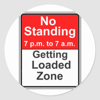 Getting Loaded Zone Classic Round Sticker
