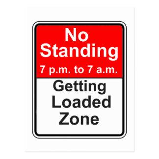 Getting Loaded Zone Postcard